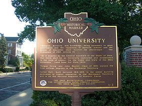 Ohio University sign