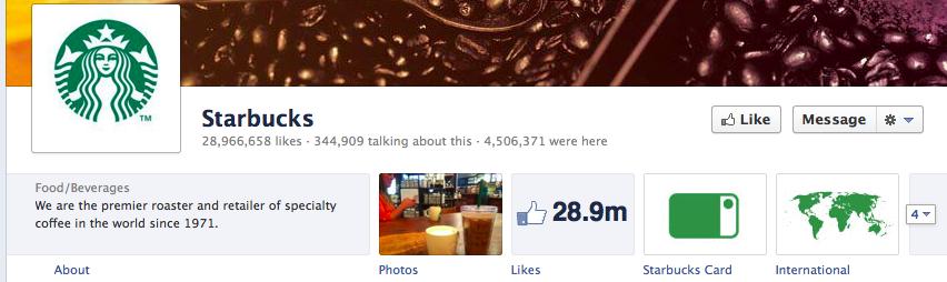 Starbucks Facebook Timeline