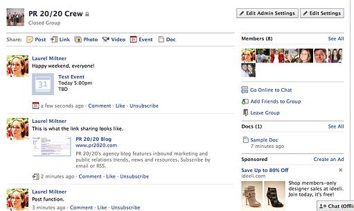 Facebook Group Screenshot