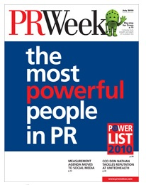 PR Week Power List 2010