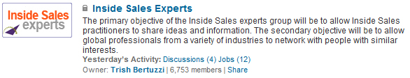 inside sales experts group